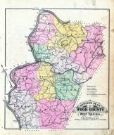 County Map, Wood County 1886